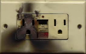 burnt outlet